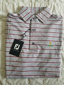 1 NWT FOOTJOY MEN'S SHIRT, SIZE: SMALL, COLOR: WHITE/GRAY/RED STRIPED (J57)