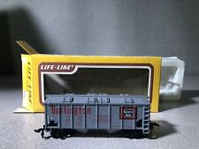 Life-Like HO Scale Model Train Car #8513 Burlington Covered Hopper (Used)