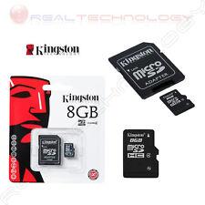 MICRO SD 8GB CLASSE 4 + ADATTATORE KINGSTON SDC4/8GB NUOVA GARANZIA