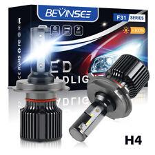 BEVINSEE H4 9003 CSP LED Headlight Bulbs 6500K 6000LM White Hi/Low Beam Lamp Kit