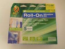 NEW Duck Roll-ON Window Premium Insulating Kit - Insulates 5 Windows 3' x 5'