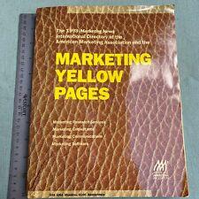 American Marketing Association Yellow Pages 1993 International Directory AMA