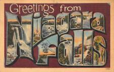 GREETINGS FROM NIAGARA FALLS NEW YORK LARGE LETTER POSTCARD 1946