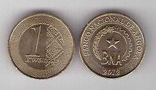 ANGOLA 1 KWANZA COIN # 2145