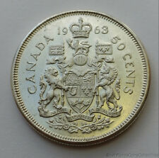 1963 Canada .800 Silver Uncirculated Half Dollar 50 Cents