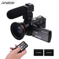 Andoer HDV-AE8 4K WiFi Digital Video Camera Camcorder DV Recorder 24MP 16X T0F2