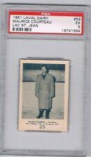 1951 Laval Dairy Lac St. Jean Hockey Card #59 M. Courteau Graded PSA 5