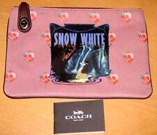 Disney x COACH Snow White Turnlock Pouch Case 26 A Dark Fairy Tale 33053 NWT