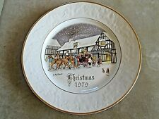 Royal Worcester Christmas Collectors Plate. VGC