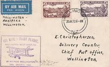 New Zealand 20- 1932 FIRST FLIGHT COVER WELLINGTON to HOKITIKA and RETURN