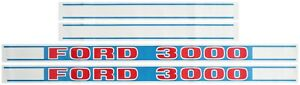 FORD 3000 TRACTOR DECAL SET