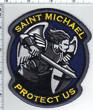 Saint Michael (Archangel) Protect Us Patch - Patron Saint of Police Officers