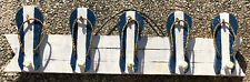 FLIP FLOP COAT HAT RACK WALL HANGING HAND CARVED WOOD TROPICAL Island DECOR