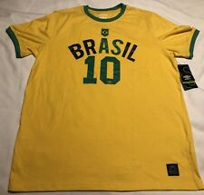 New Umbro Brasil #10 Shirt Men's Size Large Color Yellow Green Mens sz L   NWT