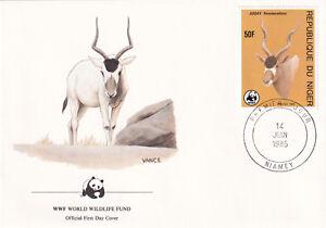 (70252) FDC WWF Niger Antelope 1985