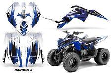 ATV Graphics Kit Decal Sticker Wrap For Yamaha Raptor 90 YFM90 09-15 CARBONX BLU