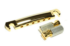 Gibson Historic OEM Tailpiece Aluminium Gold New incl. Anchors and Studs