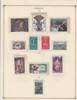 france 1966 stamps page mounted mint & used ref 17490