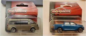 Toyota Hiace Hilux Majorette STREET CARS DieCast Metal 1:71 - 1:54