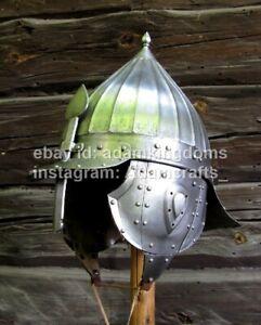 Medieval  18 Guage Steel Knight Zischage helmet, XVI - XVII Ct
