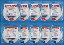 "Scor-Tape Adhesive BULK 5 of 1/8"" + 5 of 1/4""  27yd ea Scor-Pal  FREE SHIPPING"