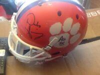 Full Size Dabo Swinney Signed Clemson Tigers Football Helmet w/ ALL IN Signed!
