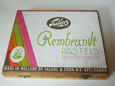 Vtg Talens Rembrandt Pastels: Soft Pastels for Artists - Set of 36 in Wood Box