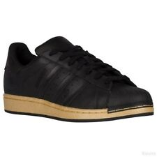 adidas Originals SuperStar Shell-Toe Black Gold Metallic BB8119 size 9 retro