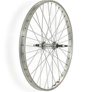 """TruBuild Rear Wheel 26x1.75"""" Steel Hub CYB 10 Alloy Rim Silver"""