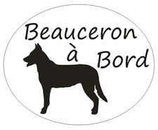 * 1 Sticker -  Beauceron à Bord - Personnalisation possible