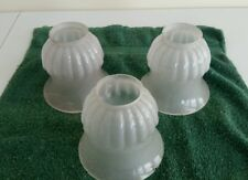 """3 OLD VINTAGE 2 1/4"""" FROSTED LAMP SHADES"""