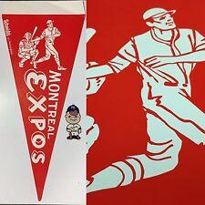 Vintage Montreal Expos Canada Paper Pennant MLB Baseball Rare 9.75x22