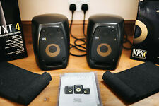 KRK VXT 4 Powered Studio Reference Monitors Black (PAIR) Very good condition