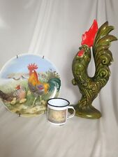 Rooster Kitchen Home Decor Farm Country Chicken Theme 3 PIECE SET