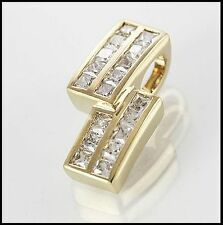 Elegant 9ct Solid Yellow Gold CZ Pendant, Fabulous Gift Idea
