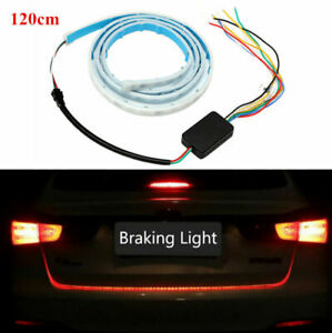 120cm Car Multi-Function RGB LED Indication Tailgate Strip Light Waterproof 12V