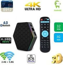 T95Z Plus 3GB/32GB TV Box S912 Octa Core Android 7.1 Dual WIFI 4K UHD UK STOCK