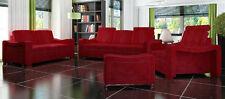 Sofagarnitur Polster Sofa Couch Leder Garnitur Textil Stoff 3+2+1 Franco Sofas