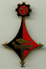 Insigne génie , 12 Rgt.  du Génie , ( Drago, plat )