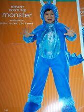 Infant Size 6-12 Months Blue Monster Plush Halloween Costume New