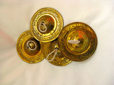 "Egyptian Large Brass Cymbals Sagate for Belly Dancing 3"": A set of 4"