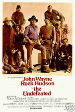 The undefeated John Wayne cult western movie poster print