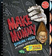 MAKE A MUMMY SHRINK A HEAD & OTHER SKILLS KLUTZ BOOK & ACTIVITY KIT