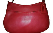 Coach Small Red Leather Hobo Bag C23-9295