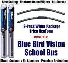 2-Pk Super-Premium NeoForm Wipers fit 2008+ Blue Bird Vision School Bus 16180x2
