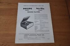 Philips 13GF810 Record Player Workshop Service Manual 13GF 810