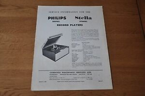 Philips 13GF810 Record Player Workshop Service Manual 13GF 810