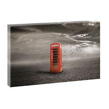 Telefonzelle Bild Keilrahmen Poster Leinwand Deko Wandbild XXL 100 cm*65 cm 487