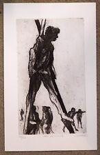 """James Kearns """"Man on Stilts"""" etching signed  ed 188/250"""