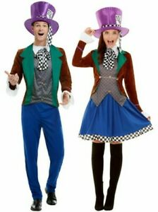Adults Mad Hatter Costume Fancy Dress Fairytale Adult Wonderland Outfit Mens Lad